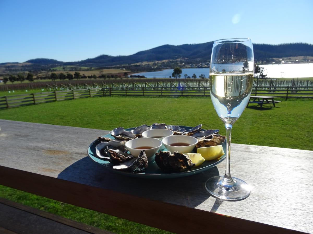 Roaring 40s Kayaking blog - Tassie Wine Trails - wine and oysters