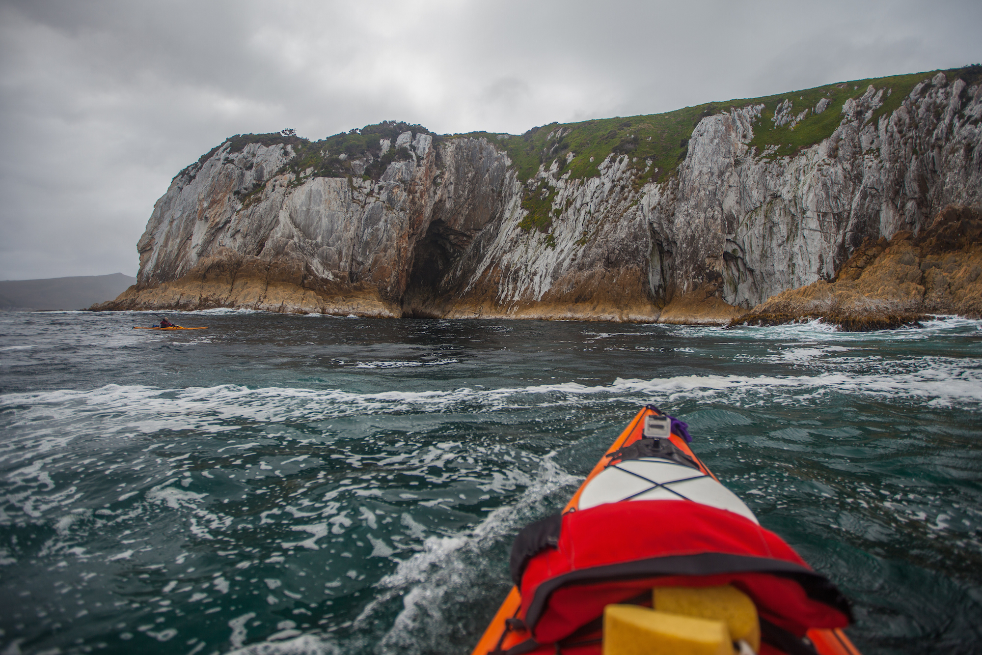 Kayaking the Breaksea Island, Southwest Tasmania