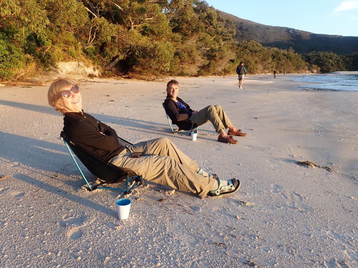Bramble Cove beach relaxing
