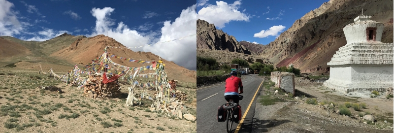 Roaring 40s Kayaking blog - Cycling from Manali to Lah in northern India - temples
