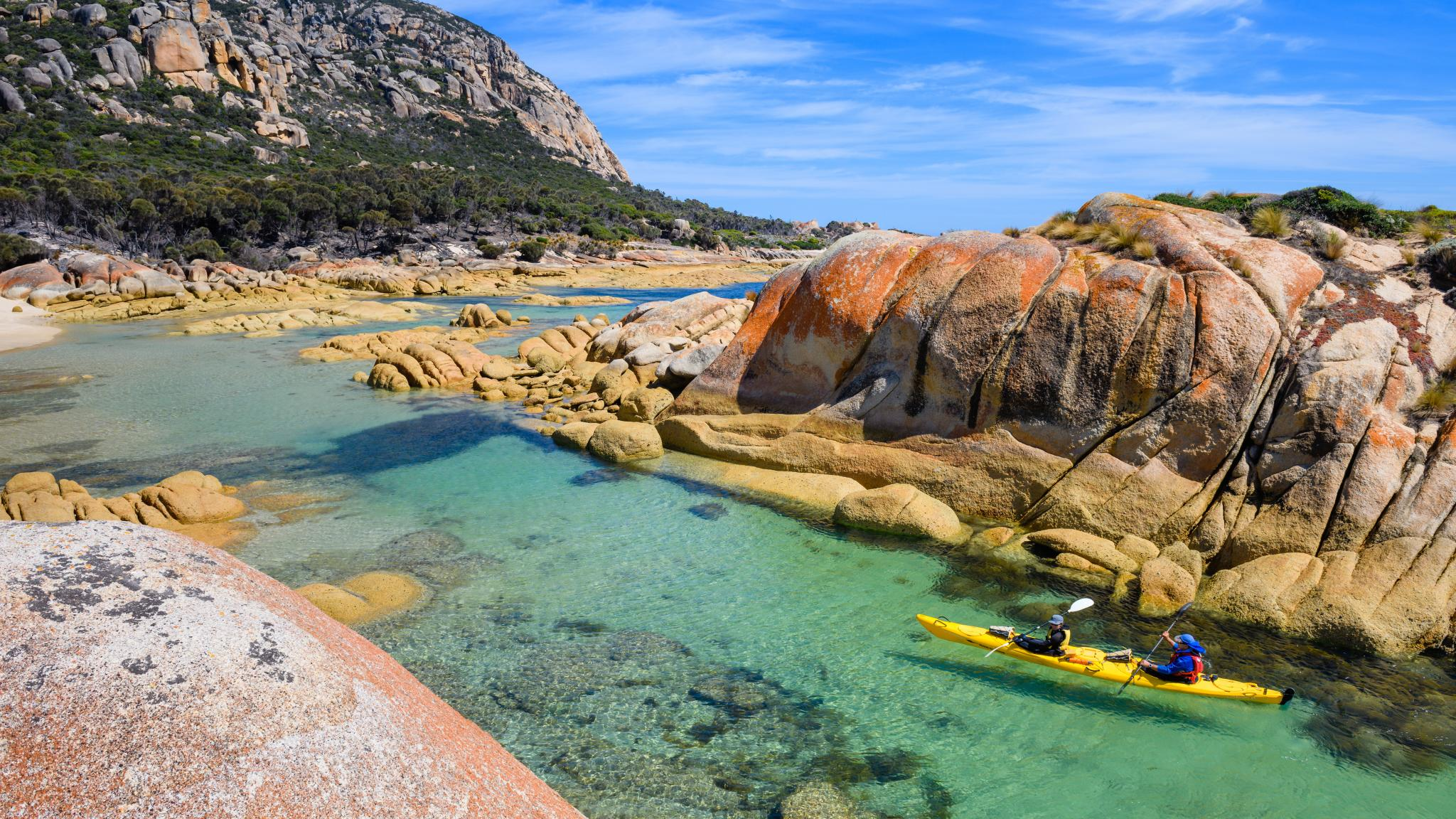 Kayaking on Flinders Island