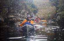 Roaring 40s Kayaking blog - The benefits of Kayaking - Kayaker on Port Davey