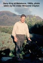 Deny King at Melaleuca, 1960s, photo taken by his sister Winsome Clayton