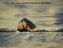 Deny King, painting of Caroline Is, oil on board