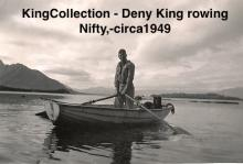 KingCollection -Deny King rowing Nifty,-circa1949