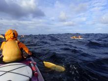 Kayaking in waves