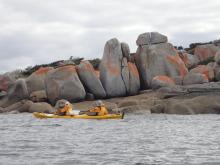 Kayaking adventures on Flinders Island
