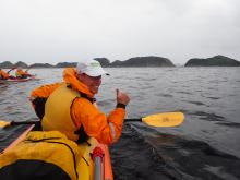 Kayaking on Port Davey Southwest National Park Tasmania
