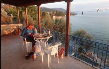 Sue Beaumont relaxing in Greece