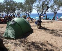 Sue Beaumont camping in Croatia